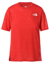 The North Face W Up With The Sun - T-skjorte - Horizon Red (0A538XV331)