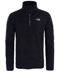 The North Face M 100 Glacier 1/4 Zip - Genser - Black (0A2UARJK31)