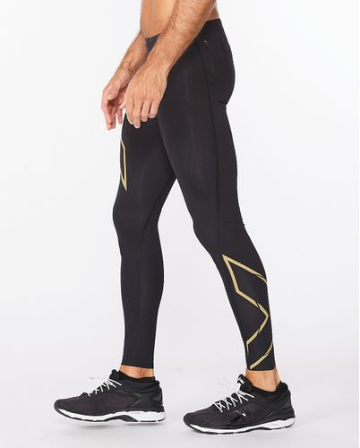 2XU Light Speed Compression - Tights - Black/ Gold (MA5305b-BL)