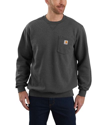 Carhartt Crewneck Pocket - Genser - Carbon Heather (103852026)