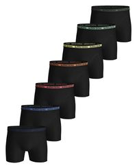 Björn Borg Solid Multi Sammy 7pk - Boxershorts - Black Beauty (2111-1086-90651)