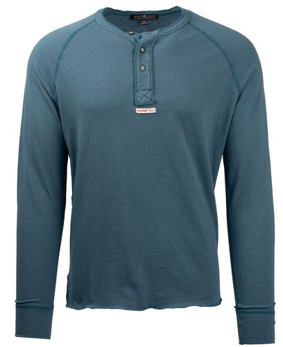 Amundsen Summer Wool Henley - Genser - Faded Blue (MSW59.1.520)