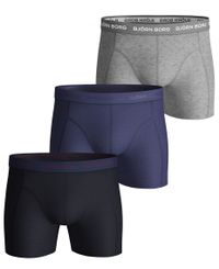 Björn Borg Seasonal Solid Essential 3pk - Boxershorts - Night Sky