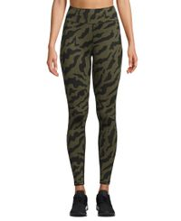 Casall Iconic Printed 7/8 - Tights - Escape Green