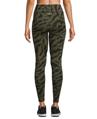 Casall Iconic Printed 7/8 - Tights - Escape Green (21501-253)