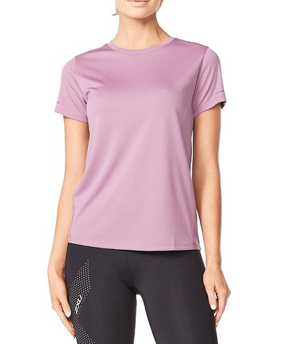 2XU Aero Tee Wmn - T-skjorte - Orchid Mist/ Orchid Reflective (WR6565a-OR)