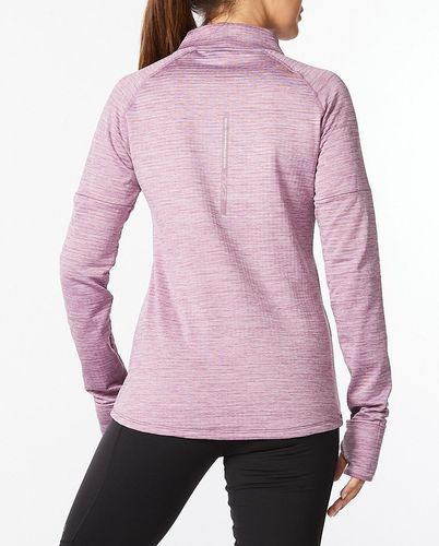 2XU Ignition 1/4 Zip Wmn - Trøye - Orchid Mist/ Orchid Reflective (WR6562a-OR)