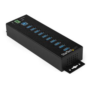 STARTECH 10-P INDUSTRIAL USB 3.0 HUB W/ EXT POWER ADPTR ESD 350W SURGE P PERP (HB30A10AME)
