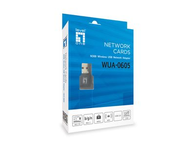 LEVELONE WUA-0605 11N 300MBPS 2.4GHZ USB ADAPTER W/WPSBTN (WUA-0605)