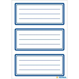 HERMA Book cover Herma labels 76x35mm blue edge 6 sheets (5798*10)