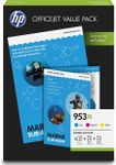 No953 XL CMY ink office value pack