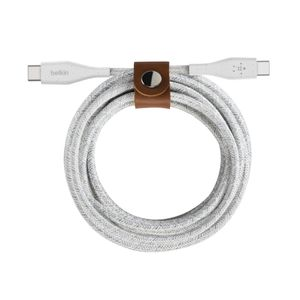 BELKIN USB-C to USB-C Cable with Strap 1m White / F8J241bt04-WHT (F8J241bt04-WHT)