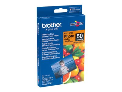 BROTHER Paper/ Photo Glossy 50sh 10x15 cm 260g/m2 (BP71GP50)