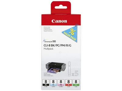 CANON CLI-8 BK/ PC/ PM/ R/ G Multi Pack (0620B027)