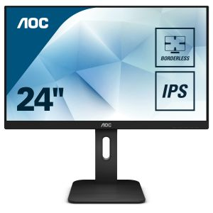 AOC 24P1 24inch display Sleek and elegant thanks to 3-sides borderless design Includes full range of display inputs (24P1)