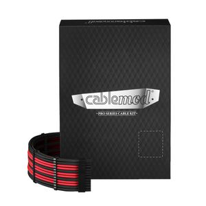 CableMod PRO ModMesh AXi, HXi & RM Kit - BLACK / RED (CM-PCSI-FKIT-NKKR-R)