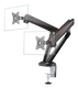 DELTACO Dual Monitors Spring-Assisted Pro Gaming Monitor Arm