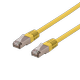 DELTACO S/FTP Cat6 patchkabel,  LSZH, 0,5m, Yellow