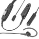 Motorola 3-Wire Earpiece w/Mic & PTT Separated Black GP-serie