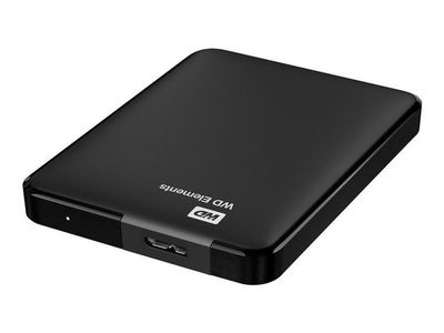 WESTERN DIGITAL WD Elements 500GB HDD USB3.0 Portable 2,5inch RTL extern RoHS compliant Low cost black (WDBUZG5000ABK-WESN)