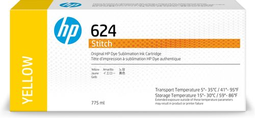 HP 624 775ml Yellow Dye Sublimation Ink Cartridge (2LL56A)