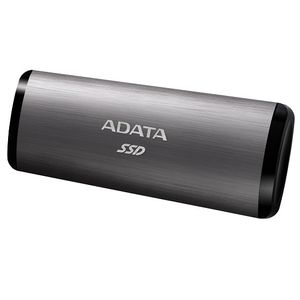 A-DATA ADATA external SSD SE760 256GB titanium USB3.2 Gen2 Type-C backward compatible with USB2.0 (ASE760-256GU32G2-CTI)