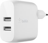 BELKIN Dual USB-A Wall Charger 24W + Lightning to USB-A Cable (MFi) / WCD001vf1MWH (WCD001vf1MWH)