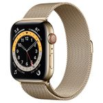 APPLE Watch Series 6 44mm 4G gull/gull Gold Stainless Steel Case with Gold Milanese Loop (M09G3DH/A)