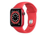 APPLE Watch Series 6 40mm PRODUCT(RED) Watch Series 6 GPS, 40mm PRODUCT(RED) Aluminium Case med PRODUCT(RED) Sport Band (M00A3DH/A)