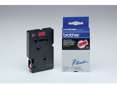 BROTHER P-Touch Tape Black On Red 12mm  (TC-401)