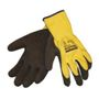 _ Halvdyppet latexhandske, Towa Powergrab Thermo, 10, latex, overhånd i polyester, vinterforet