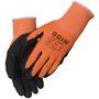 _ Fingerdyppet nitrilhandske, ODIN Basic, 12/XXXL, orange, nitril/polyester