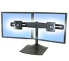 ERGOTRON DOUBLE MONITOR HORZ STAND BLACK IN