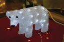 Julelys Flott Isbjørn 34x23cm Acryl,