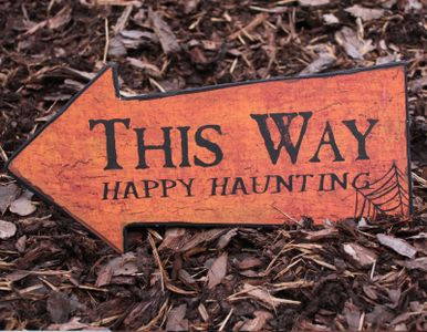 Halloween Skilt - This way... (105-PC236)