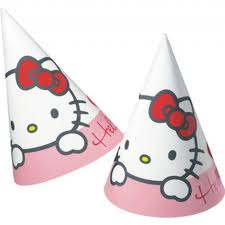 "Hello Kitty ""SweetHearts"" Festhatter 6 pk"