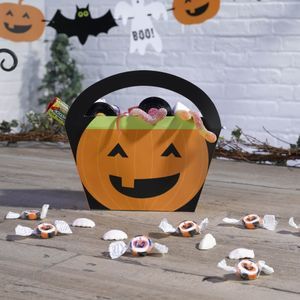 Happy Halloween Gresskarformet godtebag, 4 pk (144-596768)