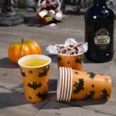 Happy Halloween Kopper med flaggermus- design