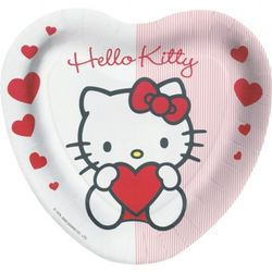 "Hello Kitty ""SweetHeart"" Papptallerkner, store (23cm)"