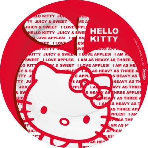 "Hello Kitty ""Apple"" Papptallerkner,  store (23cm) (136-117960)"