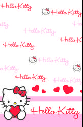 "Hello Kitty ""SweetHeart"" Bordduk, str 120x180cm"