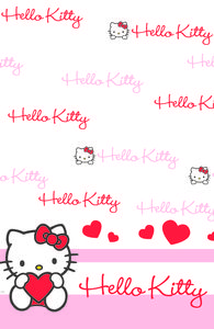 "Hello Kitty ""SweetHeart"" Bordduk, str 120x180cm (136-116105)"