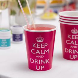 Keep Calm Partykopper ~ Rosa 8pk