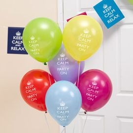 Keep Calm Party On Ballonger, 8stk