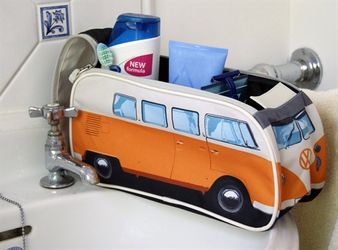 VW Camper Van Toalettveske Orange
