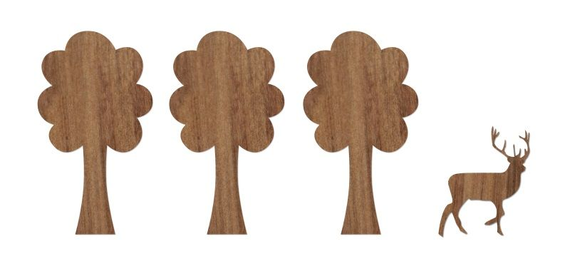 Wood Stickers - Woods