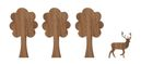 Novoform Wood Stickers - Woods