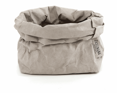Medium Paper Bag, Grey