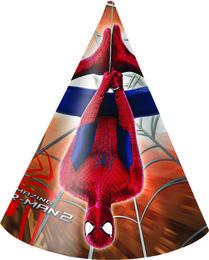 Spiderman Festhatter m/motiv (6 pk)