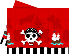 Pirater Plastduk str. 120x180 cm Praktisk engangsduk i Pirater-design (1 stk)